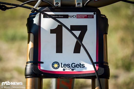 Die Nummer 17, obwohl er ein Rennen ausgesetzt hat