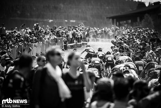 Einmal mehr stürmten tausende französische Fans an die Strecke
