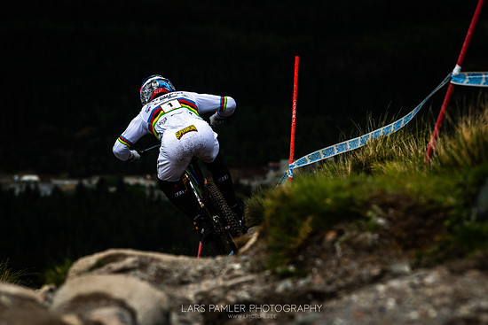 Loic Bruni Fort William DH Worldcup 2019 by Lars Pamler