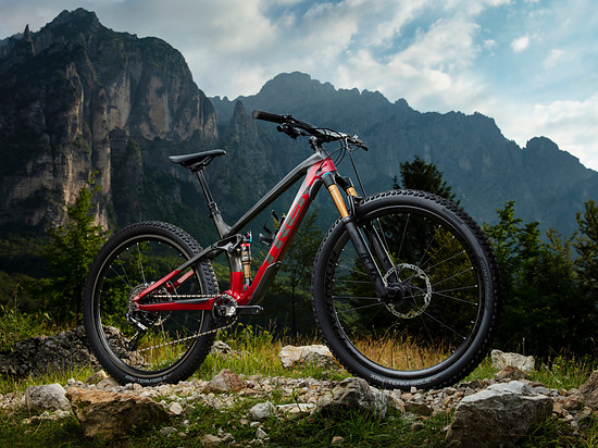 Trek Fuel EX 9.9 Raw Carbon/Rage Red