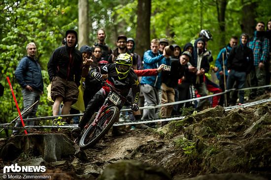 Erik Irmisch hat vor allem im European Downhill Cup überzeugt. Mehrere Top 10-Ergebnisse konnte der Racing Dudes-Teamfahrer dort einfahren.