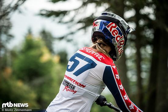 Eine weitere Fahrerin mit einem großen Fragezeichen über ihrem Kopf ist Tahnée Seagrave