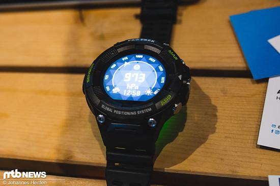Casio präsentiert mit der Pro Trek Wearable ihre Version einer bikespezifischen Outdoor-Uhr