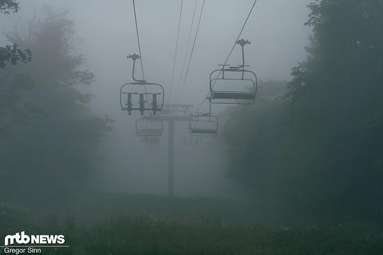 Die Sicht war durch den Nebel stark eingeschränkt