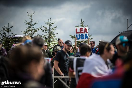 Die Fans von Lea Davison sind bereit für das Weltcupfinale!