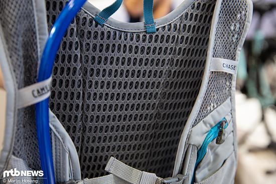 3D-geformtes Netz-Material am Rücken soll für eine gute Luftzirkulation sorgen.
