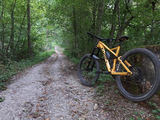 Auf dem Weg zum Trail