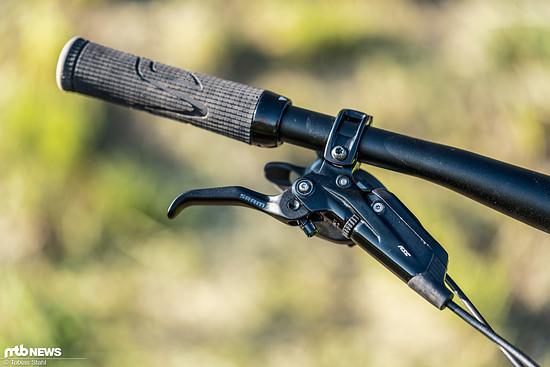 Die SRAM Code RSC-Bremsanlage findet man sonst eher an Enduros und Downhill-Bikes