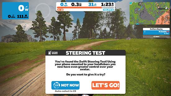 Zwift FutureWorks Steering ist bisher lediglich auf einem 2,1 Meilen langen Rundkurs verfügbar.