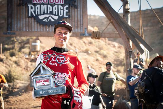 Brett Rheeder holte nicht nur Rang 2, sondern auch den Best Trick Award für seinen Front Flip Flat Drop