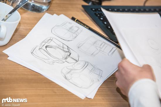 Auch beim Design geht nichts über eine erste Handskizze