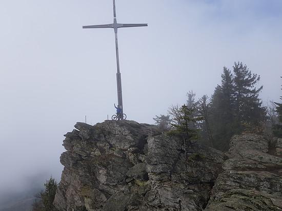 Bayerwaldgipfel im Nebel