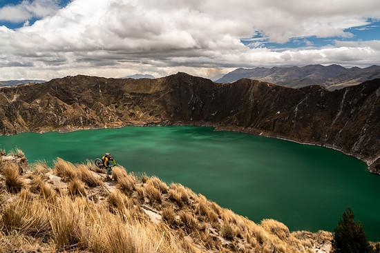 Quilotoa Krater See, Ecuador