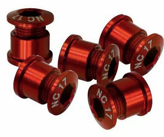 NC-17 Kettenblattschrauben rot