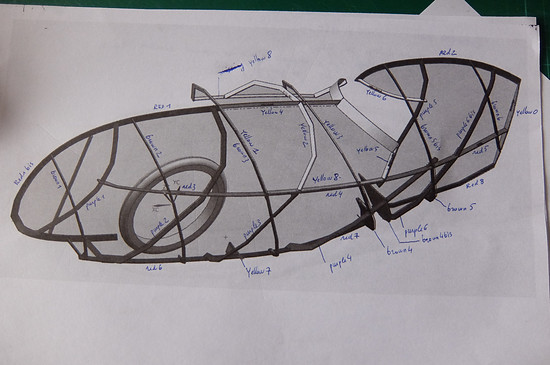 Mosquito Velomobile, Mosquito #8, Bamboo Fairing... the 3D Puzzle commenced...