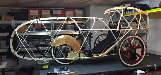 Mosquito Velomobile, Mosquito #8. Bamboo Fairing... Mock up done! What a beauty!