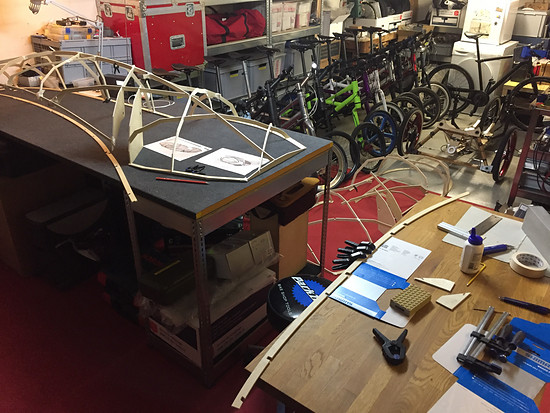 Mosquito Velomobile, Mosquito #8,Bamboo Fairing... started with the righthand side... running out of space...