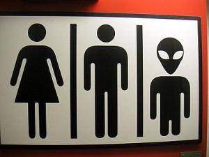 alien in toilet