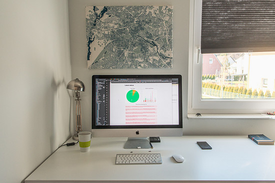 Einen anständigen Internetzugang, Bildschirm, Tastatur und manchmal eine Maus