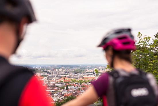 Blick auf den Kessel: Die Lage Stuttgarts ist für Mountainbike-Trails eigentlich perfekt!