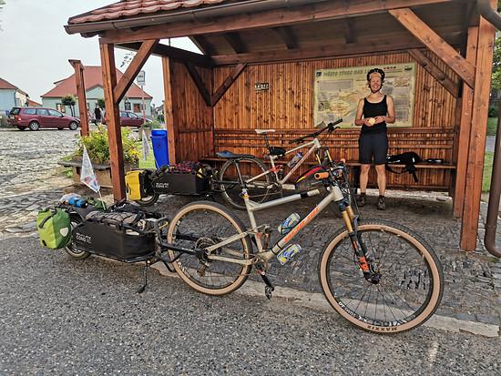 So sah unser Bikepacking-Setup aus.