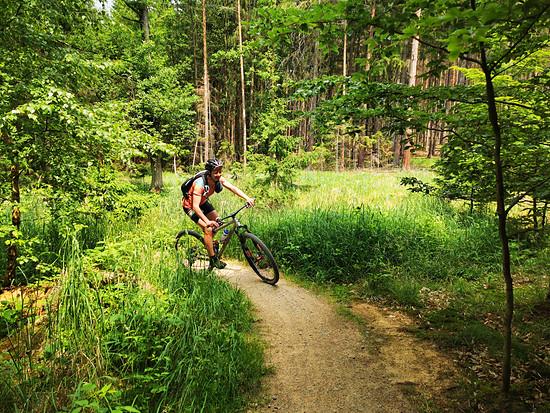 Trails des Sportpark Boskovice direkt an der Westernstadt