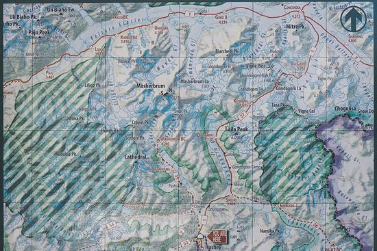 Unsere Route von Hushey über den Gondogoro La auf den Baltoro Gletscher