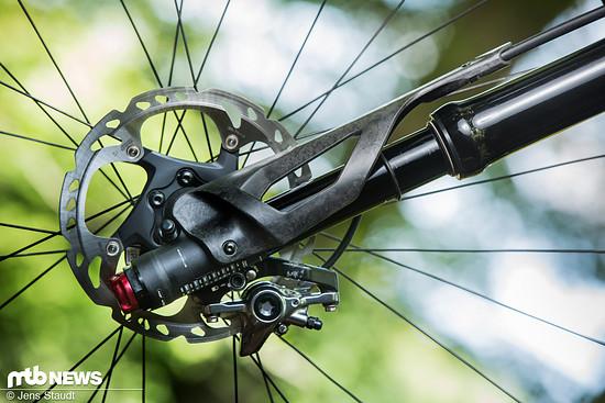 Ein spezieller Hebel soll das Demontieren des Vorderrads bei der Lefty Ocho erheblich vereinfachen und so den Zeitaufwand eines Laufradwechsels minimieren