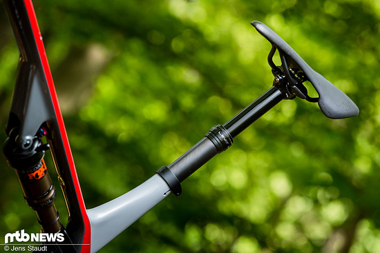 Als einziges Bike in unserem Vergleichstest befindet sich am Canyon Lux eine Dropper Post