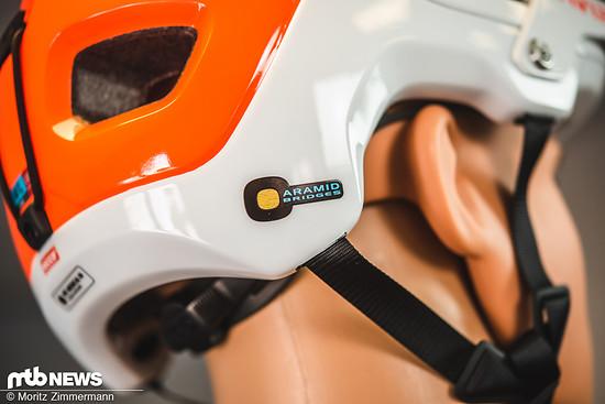 Im Inneren des Helmes ist der Tectal unter anderem mit Aramid-Fasern verstärkt