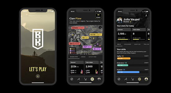 So sieht die neue Bike Kingdom-App aus