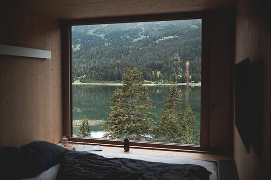 Die Sicht aus dem Hotelfenster