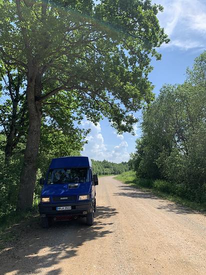 Schotter ohne Ende in Lettland