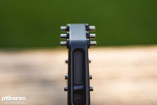 Die Außenpins ragen mit 6 mm weit aus dem Pedal heraus.