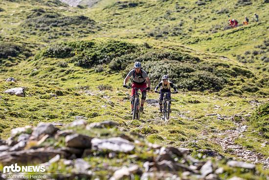 Auch Luca und Judy haben Spaß am Suchen der besten Spur!