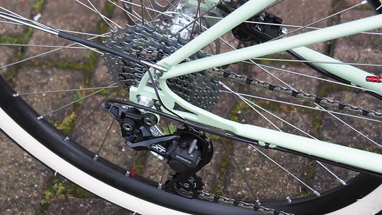 Eine Gangschaltung mit ordentlicher Übersetzung darf am Cargo-Bike natürlich nicht fehlen