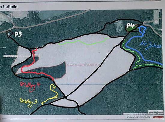 Die Waldflächen auf der linken Bildseite sind vom Tisch – der Bereich um P4 allerdings nicht.