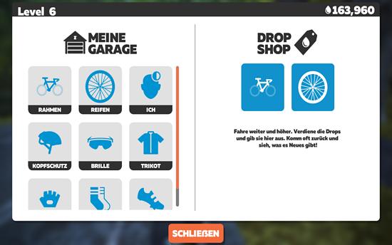 In eurer Garage könnt ihr vor der Ausfahrt euer virtuelles Ego personalisieren. Das Equipment müsst ihr aber im Laufe des Spiels freischalten, indem ihr verschiedene Herausforderungen abschließt.