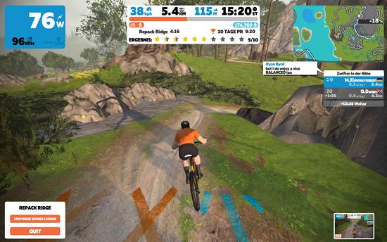 Die Trainings-Plattform Zwift hat das Fahren auf der Rolle revolutioniert. Mittlerweile gibt es auch einen Offroad-Modus in der virtuellen Fahrrad-Welt