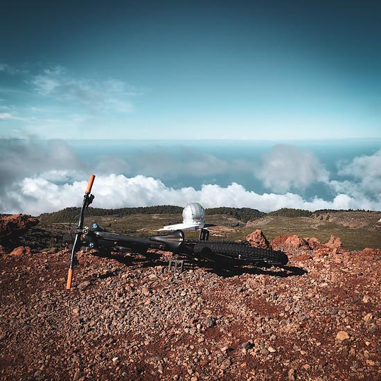 Santa Cruz Nomad auf dem Roque (La Palma)