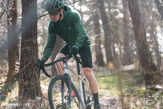 Auf dem Vorderrad lastet weniger Druck als von vielen anderen Bikes gewöhnt