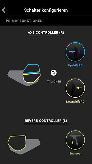 Wenn man zusätzlich noch eine RockShox Reverb AXS am Rad hat, eröffnen sich noch mehr Möglichkeiten.