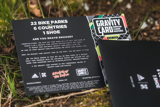 Hier in der rechten unteren Hälfte verbirgt sich der Code, mit dem ihr die Gravity Card für diese oder nächste Saison einlösen könnt.