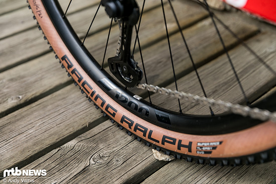DT Swiss steuert an Flückigers Rad die Laufräder und Federelemente bei