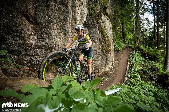 Rebecca McConnell landete dieses Jahr beim Weltcup in Nove Mesto schon einmal unter den Top 3