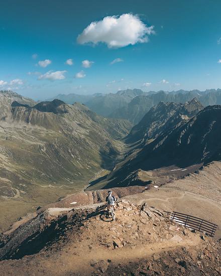 Blick über die Ötztaler Alpen
