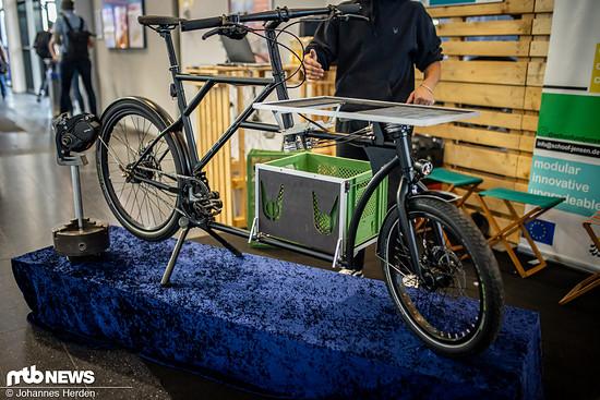 Das Lastenrad von Schoof und Jensen hat eine individuelle Motoraufnahme, die man nachrüsten kann