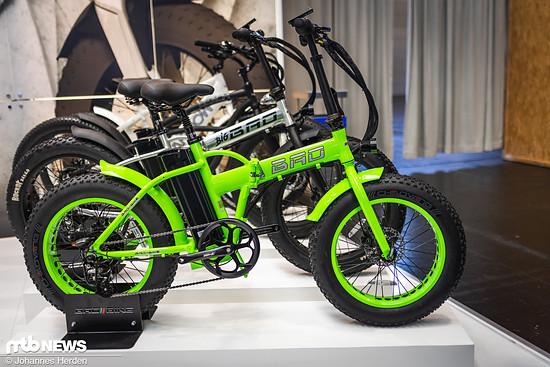Das E-Klapprad mit Fat-Tires von Bad Bike