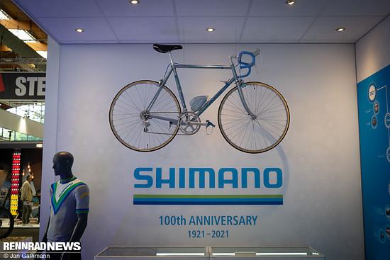 Fast versteckt feierte Shimano auf der Eurobike sein 100jähriges Jubiläum