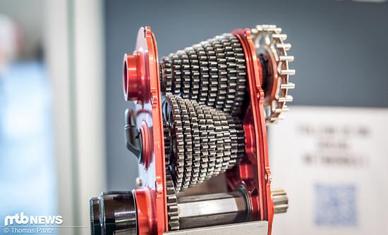 So sieht das klassische Effigear-Getriebe im Inneren aus. Stell es dir etwas kleiner vor – voila - so sieht die Mimic-Variante aus.
